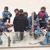JOED VIERA/STAFF PHOTOGRAPHER-Lockport, NY-    A team rests up on a break from practice during Hockey Day at Cornerstone Arena.