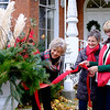 JOED VIERA/STAFF PHOTOGRAPHER-Lockport, NY-  Jane Corser, Katherine Weber and Pat Turner decorate the Kenan House in preparation for its Holiday Gift Show.