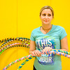 JOED VIERA/STAFF PHOTOGRAPHER-Pendleton, NY-Sally Covey shows off her hula-hoops at Regan Intermediate School.