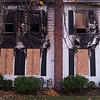 JOED VIERA/STAFF PHOTOGRAPHER-Lockport, NY-Burn marks show where the fire blazed at 605 East High Street.