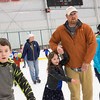 JOED VIERA/STAFF PHOTOGRAPHER-Lockport, NY-    Josh Walker and his daughter Ruth, 6, enjoy open skate at Cornerstone Arena.