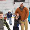 JOED VIERA/STAFF PHOTOGRAPHER-Lockport, NY-    Josh Walker and his daughter Ruth, 6, enjoy open skate at Cornerstone Arena.