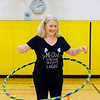 JOED VIERA/STAFF PHOTOGRAPHER-Pendleton, NY- Patti Owczarzak hula-hoops at Regan Intermediate School.
