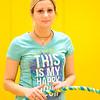 JOED VIERA/STAFF PHOTOGRAPHER-Pendleton, NY-Sally Covey shows off her hula-hoops at Regan Intermediate School.