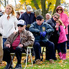 JOED VIERA/STAFF PHOTOGRAPHER-Lockport, NY-  Veterans and family's attend the Veterans Day ceremony at Outwater Park.