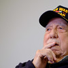 JOED VIERA/STAFF PHOTOGRAPHER-Lockport, NY-WW2 Veteran speaks to the US&J at Mountview Assisted Living.