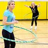 JOED VIERA/STAFF PHOTOGRAPHER-Pendleton, NY-Sally Covey and Patti Owczarzak hula-hoop at Regan Intermediate School.
