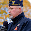JOED VIERA/STAFF PHOTOGRAPHER-Lockport, NY-  Michael Lombardi speaks at Outwater Park during the Veterans Day ceremony.