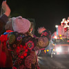 JOED VIERA/STAFF PHOTOGRAPHER-Lockport, NY-   A kid waves at Santa Clauss during the Light Up Lockport Parade in front of the Palace Theatre.