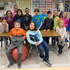 JOED VIERA/STAFF PHOTOGRAPHER-Lockport, NY-Martha LaPoint's fourth-grade class in their classroom at Charles Upson Elementary School.