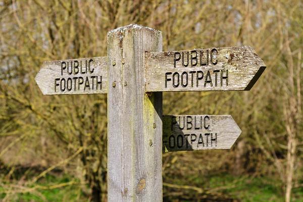 Public footpath sign 2