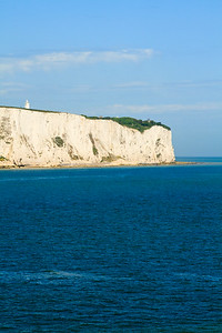 View of white cliffs of Dover in Kent