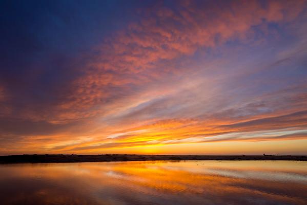 Sunset Reflections at Coast