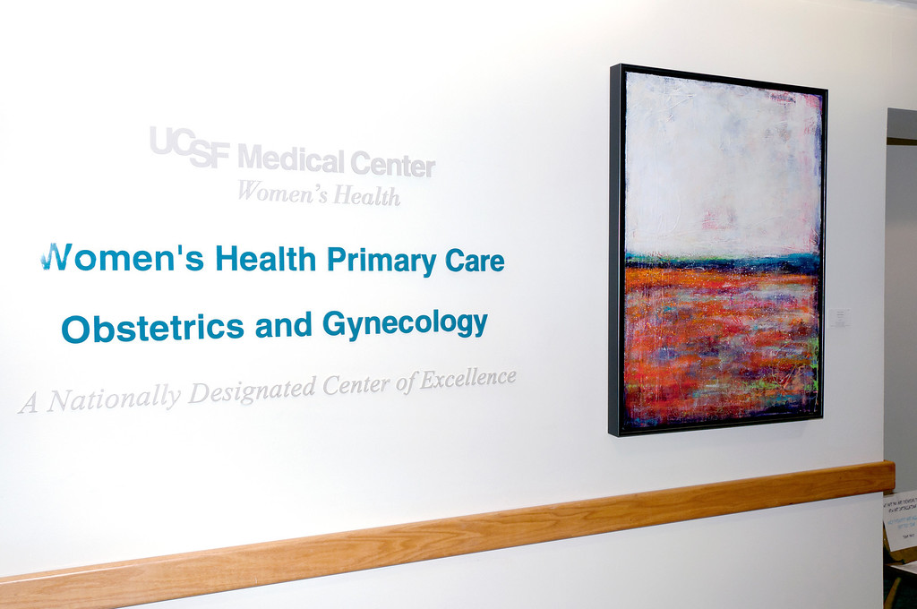 """Field of Poppies"" is welcoming patients and staff at UCSF Women's Health Center.  15 paintings, including the Unrestricted Heart Series, Did I Tell you I Love You Series and Spring 2 are covering the walls of the 4th floor.  The exhibition is ongoing until July 15th, 2014.  All paintings are for sale.  Contact me or <a href=""http://www.mckinleyartsolutions.com/serenity_invite.html"" target=""_blank"">McKinley Art Solutions</a> for any any inquiries."
