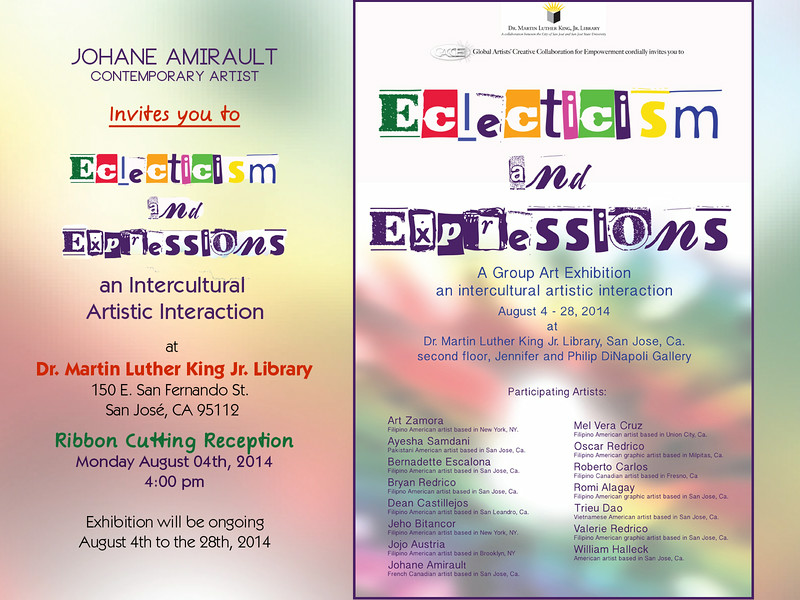 An Intercultural Artistic Interaction Exhibition; August 4th to the 28, 2014
