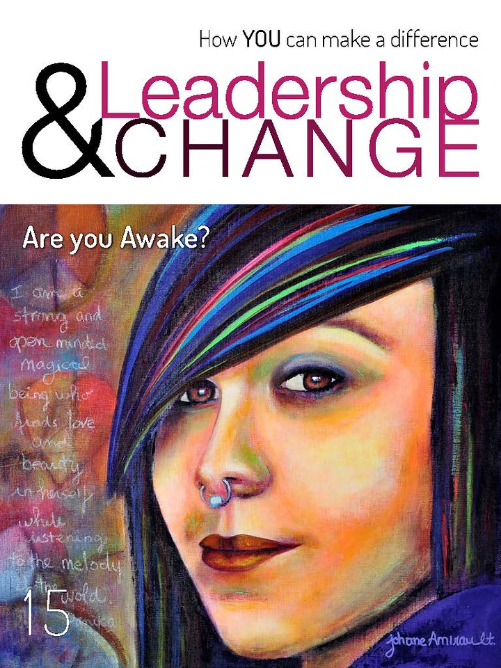 Colorful Teen; Danika on the cover of Leadership and Change magazine