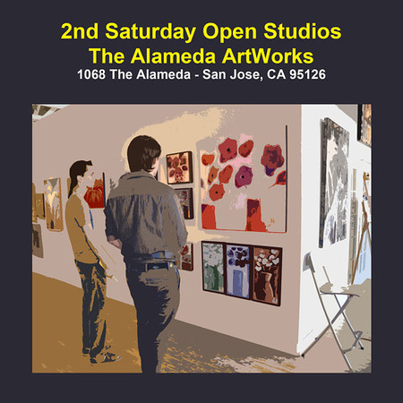 You are invited to 2nd Saturday Open Studio at the Alameda ArtWorks, 1068 the Alameda, San Jose, CA 95126. <br /> <br /> The event is held every second Saturday of every month, from 11 am to 5 pm.  Hope to see you there.  I will be in studio 16.