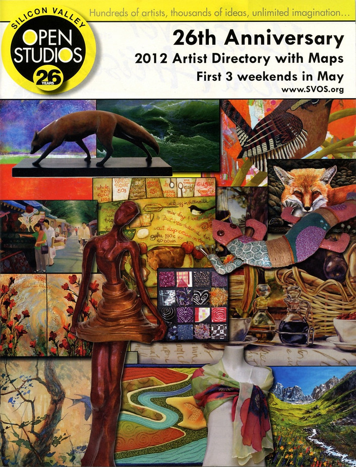 Made it on the Cover of Silicon Valley Open Studio 2012 Artists Directory