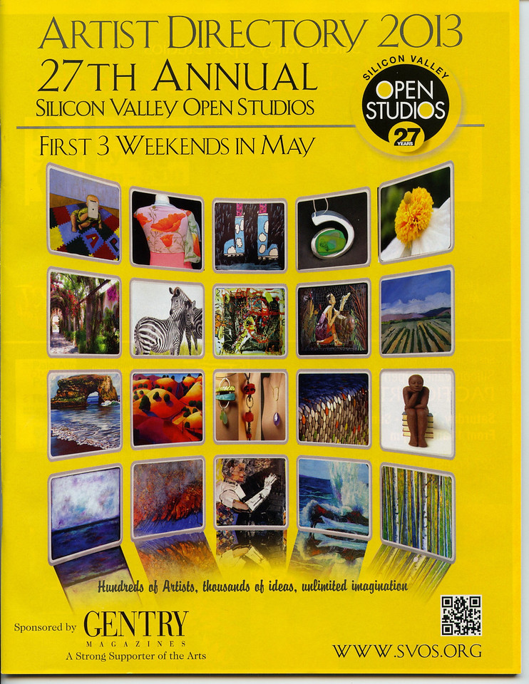 Made it on the Cover of Silicon Valley Open Studio 2013 Artists Directory
