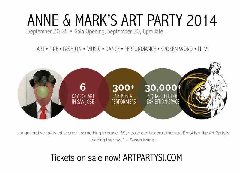 Anne & Mark's Art Party: An Occasional and Irrational San Jose Arts Fest - Sept. 20 to Sept. 25th, 2014