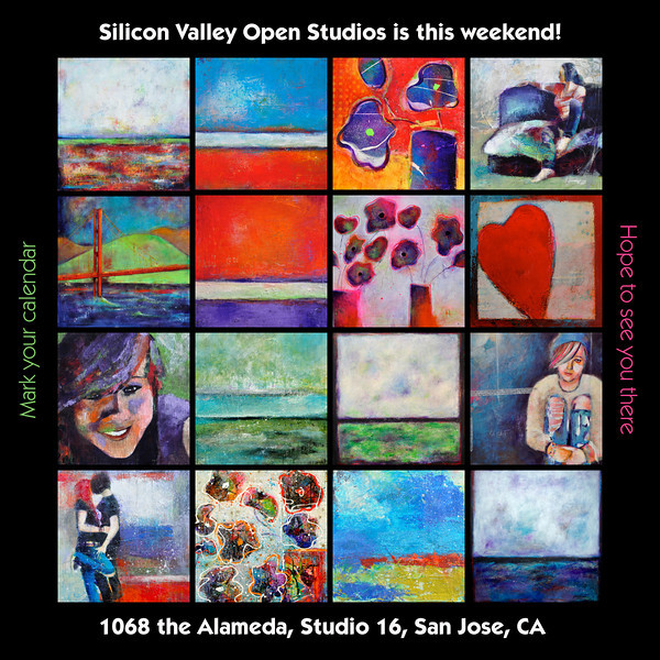 "You are invited to the Silicon Valley Open Studios.<br /> <br /> May 18th and 19th<br /> 11 am and 5 pm<br /> <br /> the Alameda Art Works<br /> 1068 the Alamdeda<br /> San Jose, CA<br /> <br /> I will be in studio 16<br /> Hope to see you!<br /> <br /> Johane<br /> <a href=""http://www.thealamedaartworks.com"">http://www.thealamedaartworks.com</a>"