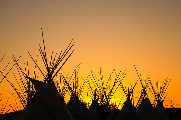 Teepees,  Pendleton, OR, during the world famous Pendleton Round-up rodeo