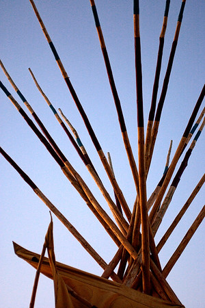 Teepee detail,  Pendleton, OR, during the world famous Pendleton Round-up rodeo