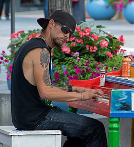 Denver Street Musician
