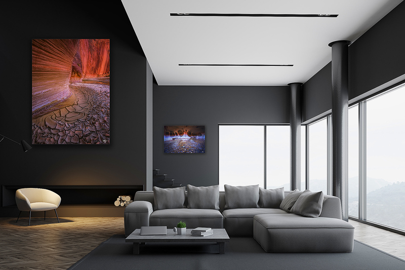 Modern gray living room interior, poster