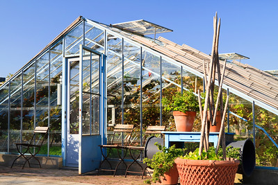 Greenhouse in garden Villa Augustus