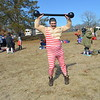 Andrew Ping of Charleston came dressed as a circus strongman.