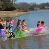 Neoga/Sigel Indians came dressed in Hawaiian wear for the Polar Plunge. The team also won the Golden Plunge Award for the most funds raised by a team, $2,429. This is the fifth year in a row to take that honor for this team.