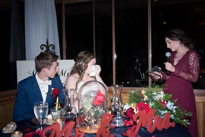 Wedding Toast at Christies of Genesee Wedding