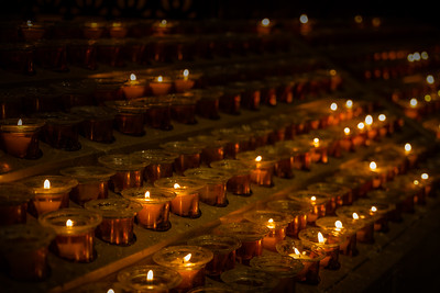 Candles  in Cathedrals
