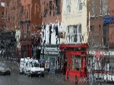 Dublin in the rain.