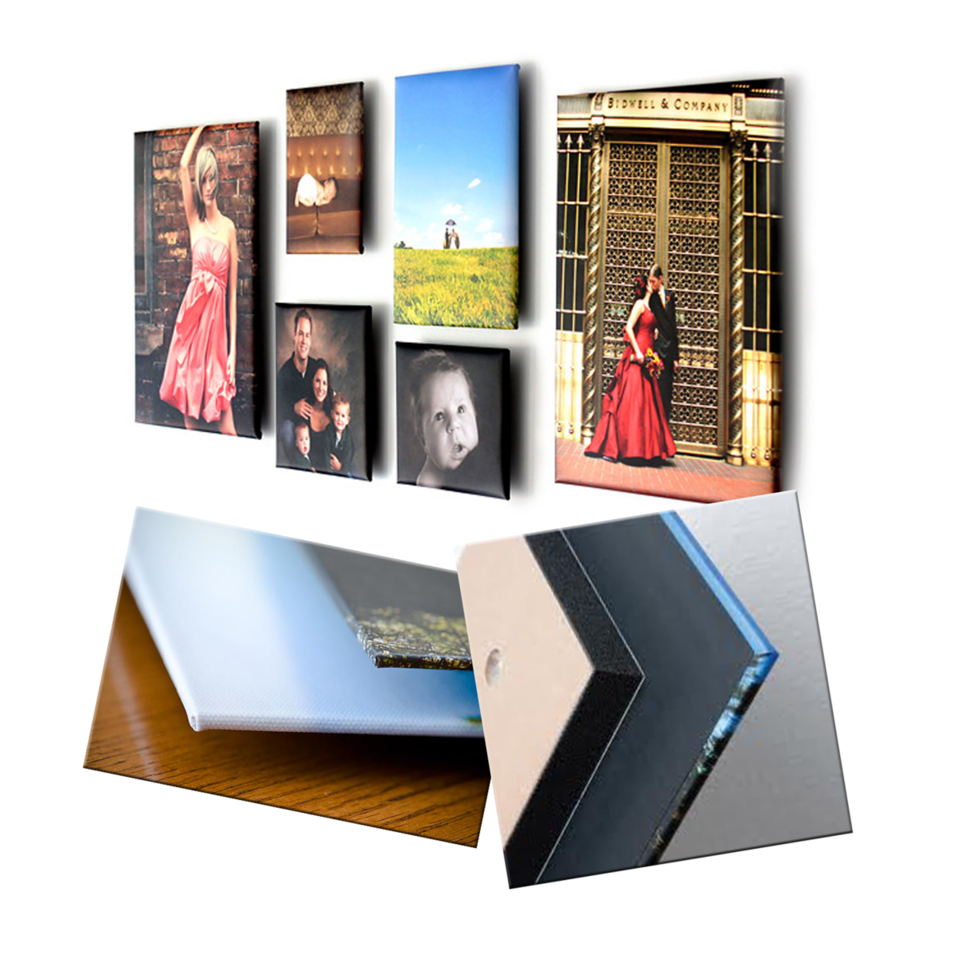 "<h2 class=""notopmargin""><u>ThinWraps</u></h2> ThinWraps are a unique, stylish and frameless option to display your images and an easy way to create a wall display that has a gallery look inside your home or business. They are unique in that they appear to be floating on your wall.  No frame is needed so the main focus is on the image!  Printed on photographic paper in a beautiful metallic finish with a smooth satin laminate and neatly wrapped around sturdy, 3/16"" board.  Each comes backed with two ¾"" thick lightweight foam blocks with holes drilled for easy hanging.  The mounting blocks hold the print away from the wall for a contemporary float effect.  ThinWraps 16x20 and larger are wrapped around Gatorboard and prints 16x16 and smaller use Masonite. <div align=""right""> Sample pricing: <Table> <tr><td>8x10</td><FONT COLOR=""transparent"">....................</FONT COLOR=""transparent""><td>76.50</td> </tr><tr><td>11x14</td><FONT COLOR=""transparent"">....................</FONT COLOR=""transparent""><td>96.50</td> <tr><td>16x20</td><FONT COLOR=""transparent"">..................</FONT COLOR=""transparent""><td>147.00</td> <tr><td>20x24</td><FONT COLOR=""transparent"">..................</FONT COLOR=""transparent""><td>172.00</td> </tr> <i> All pricing is subject to change. </i></div>"