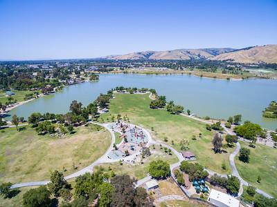 Aerial Scenery. Lake Elizabeth/Fremont Central Park - Fremont, CA, USA