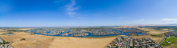 Panoramic Aerial Scenery. Slifer Park (bottom right corner). Discovery Bay, CA, USA