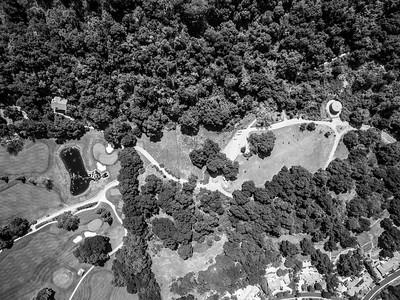 Aerial Scenery. Parking Lot of Augustin Bernal Park & Castlewood Country Club. Augustin Bernal Park - Pleasanton, CA, USA
