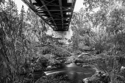 Under The Railroad Tracks. Arroyo Del Valle Trail - Pleasanton, CA, USA