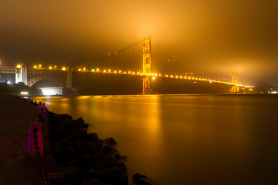 Golden Gate Bridge. Torpedo Wharf/Fort Point - San Francisco, CA, USA.
