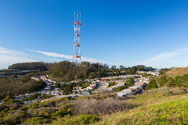 Sutro Tower. Twin Peaks - San Francisco, CA, USA