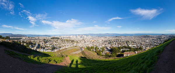 Panorama. Christmas Tree Point - Twin Peaks - San Francisco, CA, USA