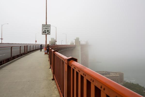 Long Exposure. Fog. Golden Gate Bridge - San Francisco, CA, USA