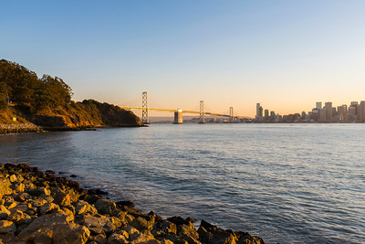 Sunset over San Francisco. Treasure Island, CA, USA