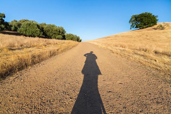 Sunset. Shadow. Pleasanton Ridge Regional Park - Sunol, CA, USA