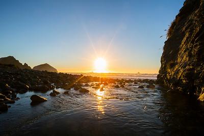 Sunset. Willow Creek. SR-1 - Big Sur, CA, USA