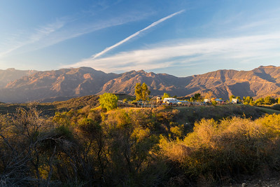 Sunset. Santa Monica Mountains National Recreation Area - Topanga, CA, USA