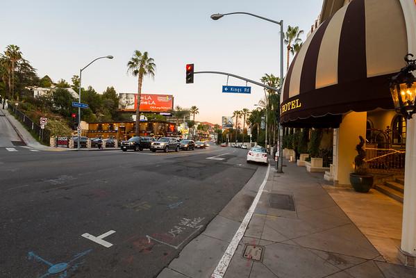 Sunset. Sunset Blvd - West Hollywood, CA, USA