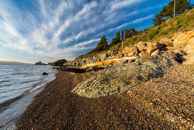 Sunset. Tomales Bay. SR-1 - Marshall, CA, USA